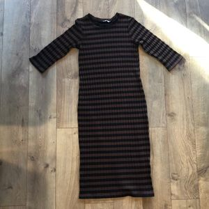 Zara long sleeve ribbed dress